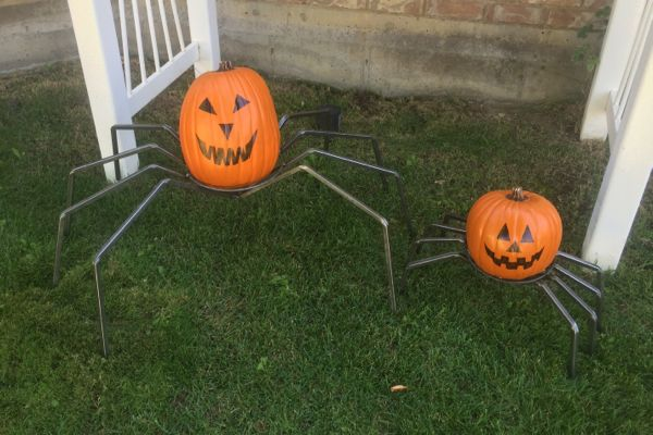 Pumpkin Spider Legs with Pumpkins
